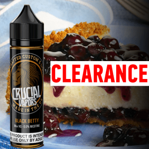 Crucial Vapors – Black Betty 50ml Short Fill
