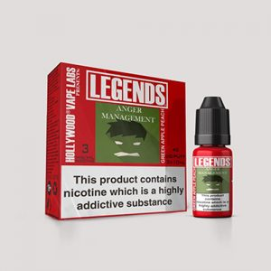Legends Multipack: Anger Management Green Apple Peach  3 x 10ml Best Before end Dec 2018