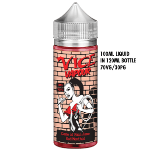 Vice Vapour Red Menthol 100ml : Dane of Pain Jane
