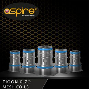 Aspire Tigon Mesh 0.7ohm Coils Pack of 5