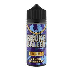 Broke Baller: Bangin Blueberry – 120ml Shortfill – 50vg/50pg