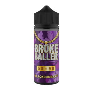 Broke Baller: Blackcurrant – 120ml Shortfill – 50vg/50pg