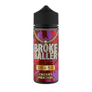 Broke Baller: Cherry Menthol – 80ml Shortfill – 50vg/50pg