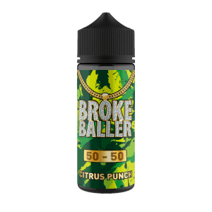 Broke Baller: Citrus Punch – 120ml Shortfill – 50vg/50pg
