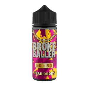 Broke Baller: Pear Drops – 120ml Shortfill – 50vg/50pg
