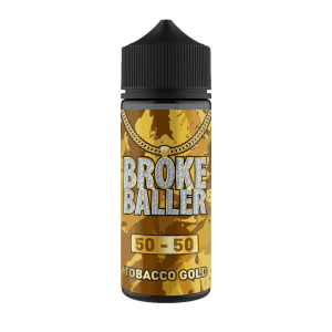 Broke Baller: Tobacco Gold – 120ml Shortfill – 50vg/50pg