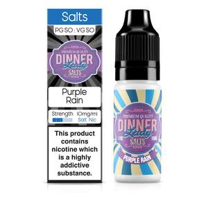 Dinner Lady Nic Salt: Purple Rain 50/50 – 10ml E-Liquid – 10mg & 20mg