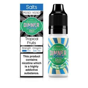 Dinner Lady Nic Salt: Tropical Fruits 50/50 – 10ml E-Liquid – 10mg & 20mg