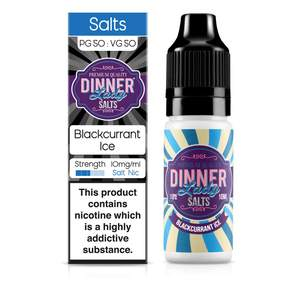 Dinner Lady Nic Salt: Blackcurrant Ice 50/50 – 10ml E-Liquid – 10mg & 20mg