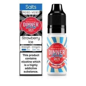 Dinner Lady Nic Salt: Strawberry Ice 50/50 – 10ml E-Liquid – 10mg & 20mg