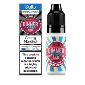 Dinner Lady Nic Salt: Cherry Menthol 50/50 – 10ml E-Liquid – 10mg & 20mg