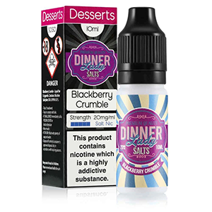 Dinner Lady Nic Salt: Blackberry Crumble 50/50 – 10ml E-Liquid – 10mg & 20mg